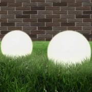 vidaXL Градински сфери за LED лампи, 2 бр, 25 см, PMMA