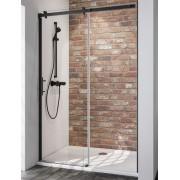 Schulte Home Porte de douche coulissante 120 cm, anticalcaire, style industriel, profilé noir