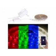 Luminea Bande LED LAX-206 - 2 m RVB + Blanc chaud - Avec accessoires