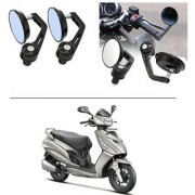 AutoStark 7/8 22cm Motorcycle Rear View Mirrors Handlebar Bar End Mirrors - Hero Maestro Edge