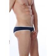 Petit-Q Open Porthole Slip Bikini Underwear Navy/White PQ170175
