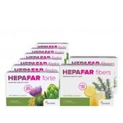 Sensilab Hepafar Detox 90-Tage-Kur Die Fettleber mit der Unterstützung von Hepafar abbauen: 6x Hepafar Forte Kapseln & 2x Hepafar Fibers Getränke Sensilab