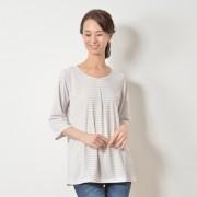 ミズノ「着る木陰」遮熱UV 七分袖プルオーバー【QVC】40代・50代レディースファッション