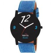 Radius New Style Quartz Analog Blue Strap Round Dial Men's Watch