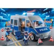 Playmobil Furgón Policía con Control de Tráfico