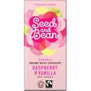 Seed and Bean - Bio Fehér csokoládé 30% Málnával és Vaníliával 85 g