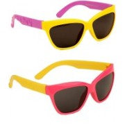 Yellow Mango Rectangular Sunglasses(For Boys & Girls)