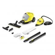 Curatitor cu abur Karcher SC 4 Iron Kit Yellow *EU 15124530, 2000 W, 3.5 bari, 0.8 L, Kit de curatare a podelei EasyFix, Accesoriu fier de calcat, Negru/Galben
