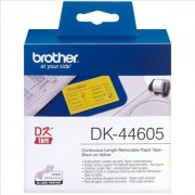 Brother P-Touch QL 500 BS. Etiquetas de Papel Despegable Negro/Amarillo Original