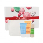 Clarins Party Season Booster Kit 15Ml Skin Serum Booster Detox 15 Ml + Body Peeling One Step Gentle Exfoliating Cleanser 30 Ml + Skin Care Hydraquench Cream 15 Ml + Bag For Skin Rejuvenation Per Donna(Cosmetic)