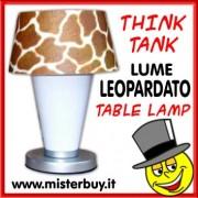 LUME DA TAVOLO THINK TANK LEOPARDATO
