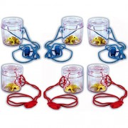 6 Mini Insect Bug Viewers with Toy Frogs by Blue Frog Toys