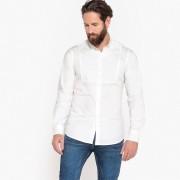 La Redoute Collections Camisa direita, mangas compridasBranco- XL (43/44)