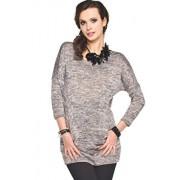 Minako sweter (szary melanż)
