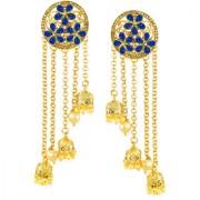 Zaveri Pearls Floral Dangling Jhumki Pearl Drops Earring-ZPFK6946