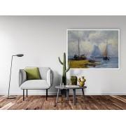 "Tablou canvas cu rama ""reproducere pictura peisaj marin"" - cod X05"