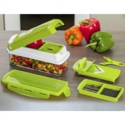 Shopping store Multipurpose Chopper Nicer Slicer Dicer - Vegetable and Fruit Chopper Slicer Cutter Grater Peeler for salads Green With Unbreakable Poly Carbonate body And Heavy Stainless Steel Blades
