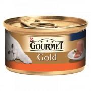 Hrana umeda pentru pisici Conserva Gourmet Gold Mousse Curcan, 85g