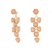 Marc Jacobs Geo Facets Convertible Earrings Rose Gold TonePeach