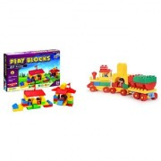 Virgo Toys Play Blocks Building Set and Junior train set (Combo)