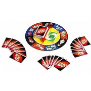 (Angel Impex) Uno Spin Card Game With Spinning Wheel For Family