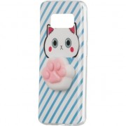 Husa telefon hurtel Żelowy pokrowiec etui Squishy animal gumowa zabawka 4D gniotek Samsung Galaxy A8 2018 A530 łapka