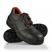 Работни обувки [pro.tec]® 43 S3, водоустойчиви, стоманени подложки, Черни/ Оранжеви, ниски