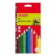 Creioane colorate Herlitz 10 culori