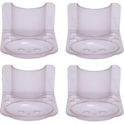 SSS-Acrylic 3 in1 Classic Set of 4pcs (Paste Holder Brush Holder Soap dish)(Material- Acrylic Unbreakable)