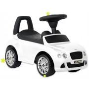 Baby Mix Bentley lábbal hajtható zenélő és világító autó gyerekeknek fehér színben