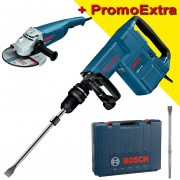 BOSCH GSH 11 E Ciocan demolator SDS-max 1500 W, 16.8J + GWS 24-230 JH Polizor unghiular