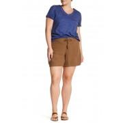 SUPPLIES BY UNION BAY Sybil Linen Blend Solid Short Plus Size TERRAIN