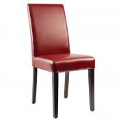 CHRselect Chaises en Simili Cuir Rouges Lot de 4
