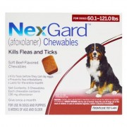 Nexgard Chewables for XL Dogs 60.1-120 lbs (Red) 136mg - 6 Chews