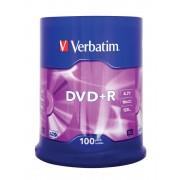 "DVD+R VERBATIM 4.7 GB, 120 min, viteza 16x, Single Layer, spindle, ""Matt Silver"", 100 buc/set"