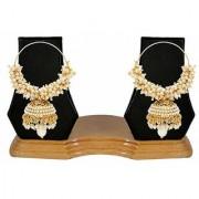 Jewels Gold Party Wear Wedding Latest Alloy Fancy Jhumki Earring Set For Women Girls