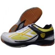 Proase Bg-05 Badminton Shoes(White, Yellow)
