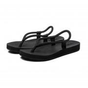 Zapatillas Flip Flops Slipper Con Cordón De La Playa Sandalias Para Hombres -Negro