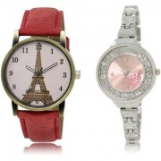 The Shopoholic Pink Combo Treny and Precious Pink Dial Analog Watch For Girls Womens Watches