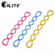SILITE Pull Rope Yoga Resistance Bands Pilates Silicone 7 Holes Fitness Crossfit Body Training Tools 1pcs exerciser Workout Men