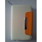 Бял калъф за Samsung N7000 Galaxy Note тип страничен тефтер