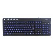Tastatura A4TECH; model: KD-126-1; layout: US; NEGRU; USB; MULTIMEDIA; BACKLIGHT