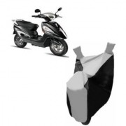 AUTOAGE Premium SILVER with BLACK Bike Body Cover For Hero Electric Bikes Electric Maxi