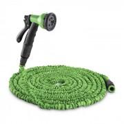 Waldbeck Water Wizard 15 флексибилен градински маркуч, 8 функции, 15 m, зелен (GDH-Flex-15-GR)