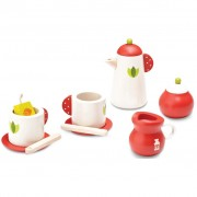 Wonderworld Tea Break Set Wood Red and White HOUT192436