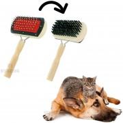 Cepillo Para Mascotas Madera 2 En 1 Para Quitar Polvo Pelusa Suave Brillo