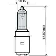 BEC HALOGEN (BA20D) LUMINA ALBA - 12V 35/35W