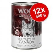 "Wolf of Wilderness Ekonomipack: Wolf of Wilderness ""The Taste Of"" 12 x 400 g - The Taste Of Canada"