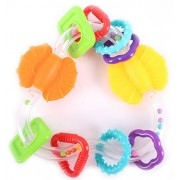 Scholastic Baby Infant Triangle Teether Rattle Toy With Spinning Flippers Multicolored Triangle Baby Toy One Size