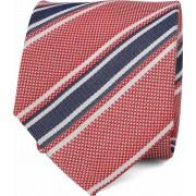 Suitable Krawatte Seide Streifen F91-10 - Rot